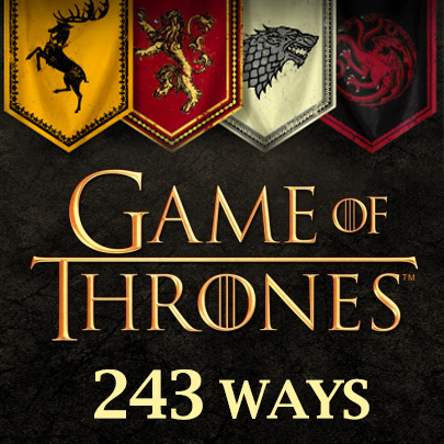 Game of Thrones 243 Ways